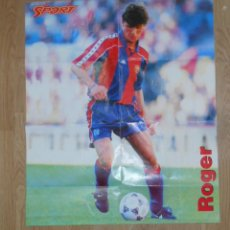 Coleccionismo deportivo: POSTER GIGANTE ROGER F.C. BARCELONA SPORT BARÇA. TDKP1. Lote 113897907
