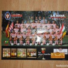 Coleccionismo deportivo: POSTER CARTEL CLUB DEPORTIVO LOGROÑES. TEMPORADA 95-96. 1995-1996. TDKP1. Lote 113898663