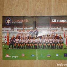 Coleccionismo deportivo: POSTER CARTEL CLUB DEPORTIVO LOGROÑES. TEMPORADA 98-99. 1998/1999. TDKP1. Lote 113900427