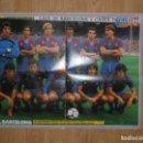 Coleccionismo deportivo: POSTER CARTEL TELE INDISCRETA. REVERSIBLE. - REAL MADRID Y FUTBOL CLUB BARCELONA AÑOS 80. TDKP1. Lote 113902447