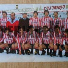 Coleccionismo deportivo: POSTER CARTEL DEL CLUB DEPORTIVO LOGROÑES. TEMPORADA 84/85. 1984-1985. INTEGRAMENTE FIRMADO. TDKP1. Lote 113936931