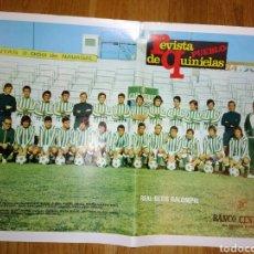 Coleccionismo deportivo: POSTER REAL BETIS BALONPIE DE LA REVISTA PUEBLO. Lote 114118822