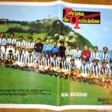 Coleccionismo deportivo: REAL SOCIEDAD POSTER DE LA REVISTA PUEBLO. Lote 114118978