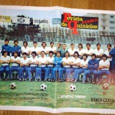 Coleccionismo deportivo: EQUIPO TENERIFE POSTER DE LA REVISTA PUEBLO. Lote 114119046