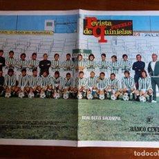 Coleccionismo deportivo: PÓSTER REVISTA PUEBLO QUINIELAS. REAL BETIS BALOMPIE. AÑOS 70.. Lote 114901979