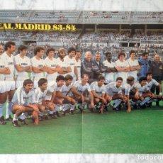 Coleccionismo deportivo: POSTER REAL MADRID 83/84 PLANTILLA LIGA FUTBOL TEMPORADA 1983/1984. Lote 115185023