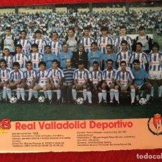 Coleccionismo deportivo: RP POSTER AS COLOR REAL VALLADOLID LIGA TEMPORADA 1988 1989 88 89 . Lote 115389895