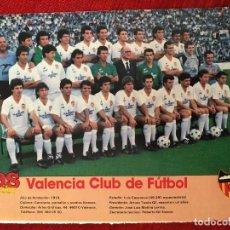 Coleccionismo deportivo: RP POSTER AS COLOR VALENCIA LIGA TEMPORADA 1988 1989 88 89. Lote 115389943