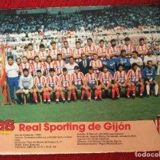 Coleccionismo deportivo: RP POSTER AS COLOR SPORTING GIJON LIGA TEMPORADA 1988 1989 88 89. Lote 115389991