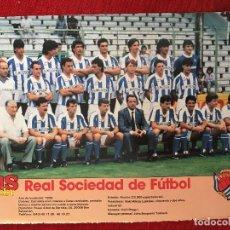 Coleccionismo deportivo: RP POSTER AS COLOR PLANTILLA REAL SOCIEDAD LIGA TEMPORADA 1988 1989 88 89. Lote 115390063