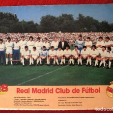 Coleccionismo deportivo: RP POSTER AS COLOR PLANTILLA REAL MADRID LIGA TEMPORADA 1988 1989 88 89. Lote 115390091
