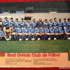 Coleccionismo deportivo: RP POSTER AS COLOR PLANTILLA REAL OVIEDO LIGA TEMPORADA 1988 1989 88 89. Lote 115390123