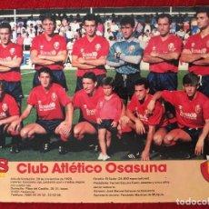 Coleccionismo deportivo: RP POSTER AS COLOR PLANTILLA ATLETICO OSASUNA LIGA TEMPORADA 1988 1989 88 89. Lote 115390159