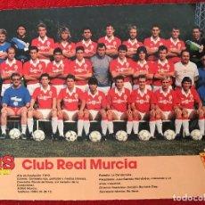 Coleccionismo deportivo: RP POSTER AS COLOR PLANTILLA REAL MURCIA LIGA TEMPORADA 1988 1989 88 89. Lote 115390175