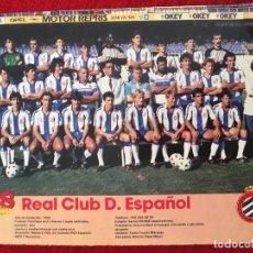 Coleccionismo deportivo: RP POSTER AS COLOR PLANTILLA ESPAÑOL ESPANYOL LIGA TEMPORADA 1988 1989 88 89. Lote 115390251