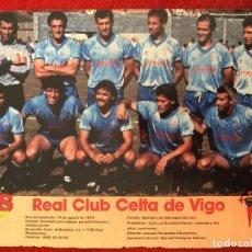 Coleccionismo deportivo: RP POSTER AS COLOR PLANTILLA CELTA DE VIGO LIGA TEMPORADA 1988 1989 88 89. Lote 115390303