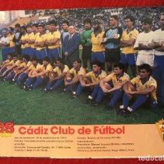 Coleccionismo deportivo: RP POSTER AS COLOR PLANTILLA CADIZ LIGA TEMPORADA 1988 1989 88 89. Lote 115390319