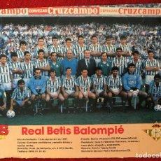 Coleccionismo deportivo: RP POSTER AS COLOR PLANTILLA REAL BETIS LIGA TEMPORADA 1988 1989 88 89. Lote 115390339