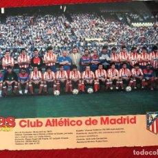 Coleccionismo deportivo: RP POSTER AS COLOR PLANTILLA ATLETICO MADRID LIGA TEMPORADA 1988 1989 88 89. Lote 115390403