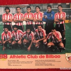 Coleccionismo deportivo: RP POSTER AS COLOR PLANTILLA ATHLETIC CLUB BILBAO LIGA TEMPORADA 1988 1989 88 89. Lote 115390435
