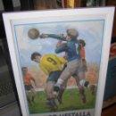 Coleccionismo deportivo: CARTEL FÚTBOL MESTALLA REAL BETIS. ORIGINAL DEL AÑO 1967. MEDIDAS: 73 X 36CMS. Lote 115427567