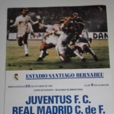 Coleccionismo deportivo: CARTEL COPA DE EUROPA 1986 REAL MADRID - JUVENTUS. Lote 115589567