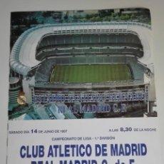 Coleccionismo deportivo: CARTEL LIGA 1997 REAL MADRID - ATLÉTICO DE MADRID. Lote 115592331