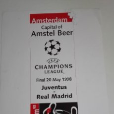 Coleccionismo deportivo: CARTEL FINAL UEFA CHAMPIONS LEAGUE 1998. JUVENTUS - REAL MADRID. Lote 115594403