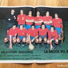 Coleccionismo deportivo: POSTER SELECCION ESPAÑA, LA GACETA DEL NORTE AÑOS 70. Lote 116182631