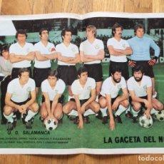 Coleccionismo deportivo: POSTER UD SALAMANCA, LA GACETA DEL NORTE, AÑOS 70. Lote 116182763
