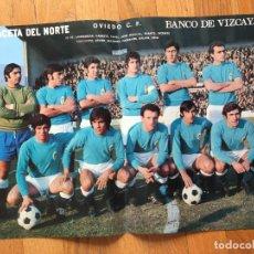 Coleccionismo deportivo: POSTER OVIEDO CF, LA GACETA DEL NORTE AÑOS 70. Lote 116183019