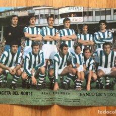 Coleccionismo deportivo: POSTER REAL SOCIEDAD, LA GACETA DEL NORTE, AÑOS 70. Lote 116184135