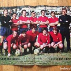 Coleccionismo deportivo: POSTER C.A OSASUNA, LA GACETA DEL NORTE AÑOS 70. Lote 116184359