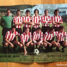 Coleccionismo deportivo: POSTER CD LOGROÑES LA GACETA DEL NORTE AÑOS 70. Lote 116184531