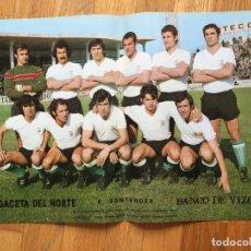 Coleccionismo deportivo: POSTER R. SANTANDER, LA GACETA DEL NORTE AÑOS 70. Lote 116184743