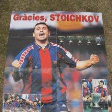 Coleccionismo deportivo: PÓSTER - GRÀCIES, STOICHKOV (F.C. BARCELONA) - SPORT.. Lote 143820898