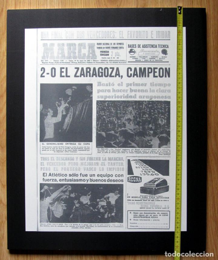 CUADRO PORTADA MARCA REAL ZARAGOZA CAMPEON COPA DEL GENERALISIMO REY 1966 EN POLIESPAN 42X51X1 (Coleccionismo Deportivo - Carteles de Fútbol)