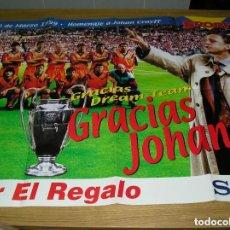 Coleccionismo deportivo: LOTE 16 POSTER POSTERS BARCELONA CLUB DE FUTBOL FOTOS DE CADA POSTER. Lote 116570991