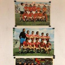 Coleccionismo deportivo: REAL MURCIA C.F. Y C.R. MURCIA - 3 POSTERS DE LOS AÑOS 70S.. Lote 163386570