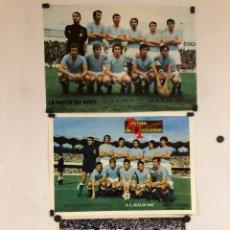 Coleccionismo deportivo: R.C. CELTA DE VIGO - 3 POSTERS AÑOS 70S - GACETA DEL NORTE Y REVISTA DE QUINIELAS PUEBLO.. Lote 117134226