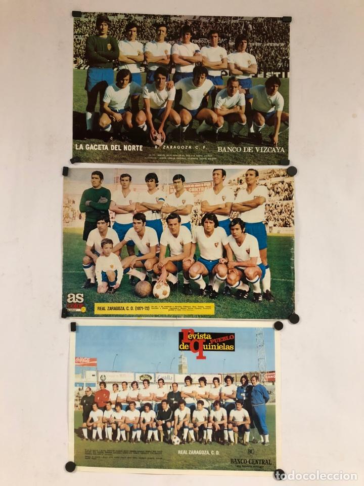 REAL ZARAGOZA C.F. - 3 POSTERS AÑOS 70S - GACETA DEL NORTE, AS COLOR, REVISTA PUEBLO. (Coleccionismo Deportivo - Carteles de Fútbol)