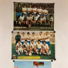 Coleccionismo deportivo: REAL ZARAGOZA C.F. - 3 POSTERS AÑOS 70S - GACETA DEL NORTE, AS COLOR, REVISTA PUEBLO.. Lote 117135163
