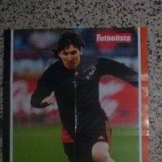 Coleccionismo deportivo: POSTER LIONEL MESSI, FUTBOLISTA LIFE A DOBLE CARA MEDIDAS 80X60 CM.. Lote 117327255