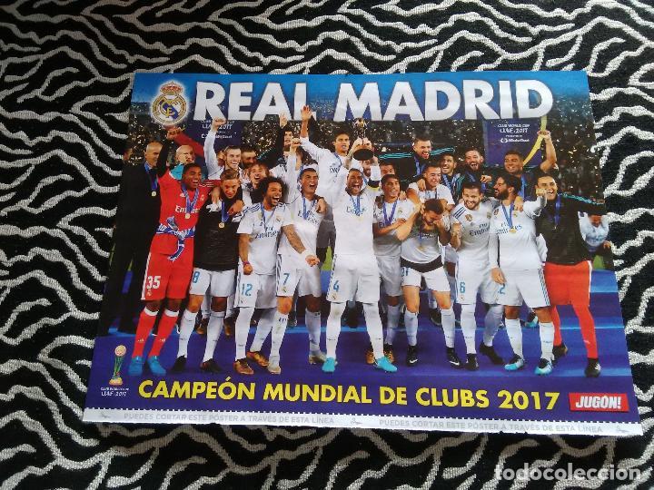 DOBLE PÓSTER 1 PÁGINA REVISTA JUGÓN: REAL MADRID CAMPEÓN 2017 Y ALINEACIÓN ALAVÉS 2017-2018, 17-18 (Coleccionismo Deportivo - Carteles de Fútbol)