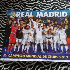 Coleccionismo deportivo: DOBLE PÓSTER 1 PÁGINA REVISTA JUGÓN: REAL MADRID CAMPEÓN 2017 Y ALINEACIÓN ALAVÉS 2017-2018, 17-18. Lote 117577611