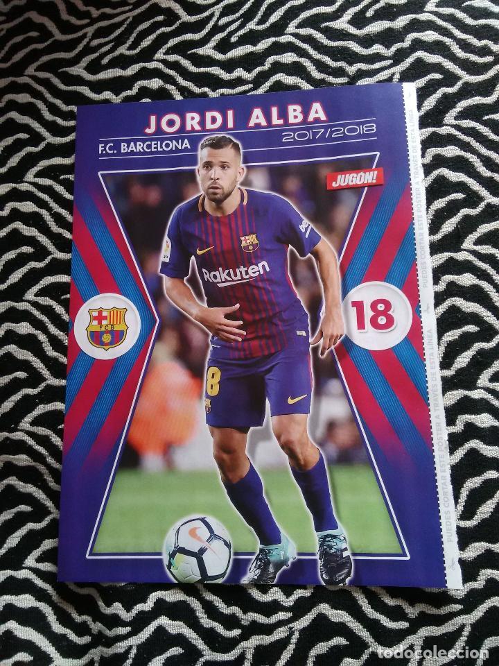 DOBLE PÓSTER 1 PÁGINA REVISTA JUGÓN: JORDI ALBA (F.C. BARCELONA, BARÇA) Y OYARZABAL (REAL SOCIEDAD) (Coleccionismo Deportivo - Carteles de Fútbol)