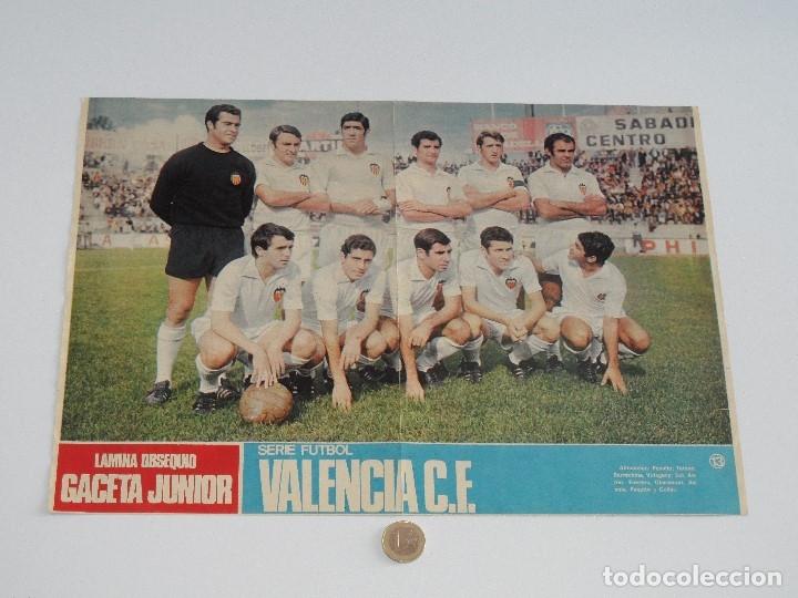 POSTER GACETA JUNIOR Nº 13: VALENCIA C.F. / REAL MURCIA LIGA 1969-1970. S_N (Coleccionismo Deportivo - Carteles de Fútbol)