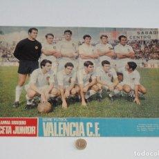 Coleccionismo deportivo: POSTER GACETA JUNIOR Nº 13: VALENCIA C.F. / REAL MURCIA LIGA 1969-1970. S_N. Lote 31211240