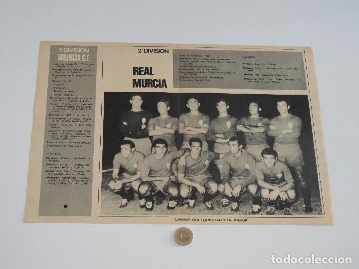 Coleccionismo deportivo: POSTER GACETA JUNIOR Nº 13: VALENCIA C.F. / REAL MURCIA LIGA 1969-1970. S_N - Foto 2 - 31211240