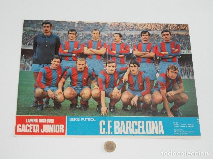 POSTER GACETA JUNIOR Nº 7: C. F. BARCELONA / CLUB DEPORTIVO SAN ANDRÉS LIGA 1969-1970. S_N (Coleccionismo Deportivo - Carteles de Fútbol)